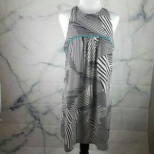 Graphic THML Dress in Black & White in Size M
